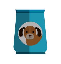 Dog food bag icon vector