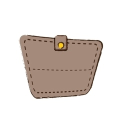 drawing wallet save money icon vector image vector image