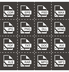 File format icon set vector image
