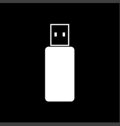 flash drive white color icon vector image vector image