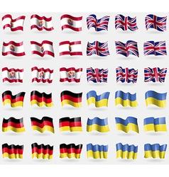 French polynesia united kingdom germany ukraine vector