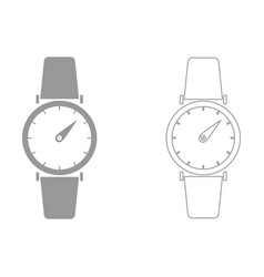 Hand watch the grey set icon vector