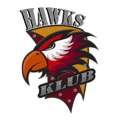Hawks klub logo vector