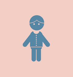 Little boy kid in pyjamas vector