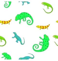 Lizard pattern cartoon style vector