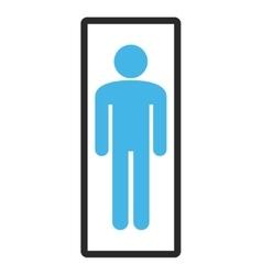 Man framed icon vector