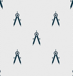 Mathematical compass sign icon seamless abstract vector
