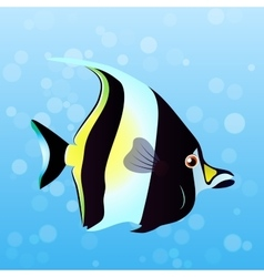 Moorish idol fish vector