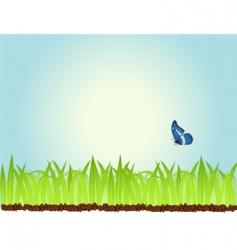 Morning grass vector