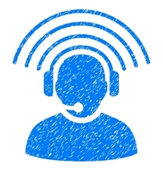 Operator radio signal grainy texture icon vector