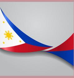 Philippines wavy flag vector