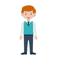 Redhead man with formal suit and tie vector