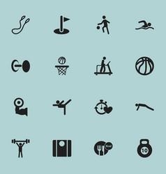 Set of 16 editable healthy icons includes symbols vector