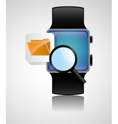 Smart watch wearable technology file folder search vector