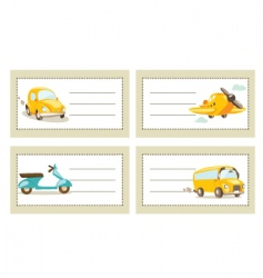 transport tags vector image vector image