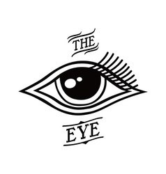 Eye symbol theme vector