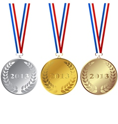 Set of 2013 medals vector