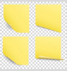 Sticky reminder notes set vector
