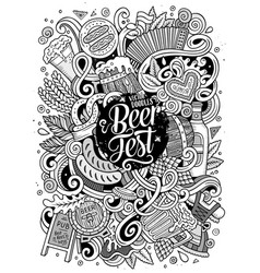 cartoon cute doodles hand drawn oktoberfest vector image