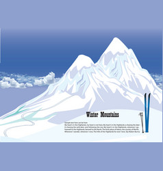 winter mountains snowy landscape mountains vector image