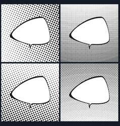 Set of retro speech bubble pop art vector