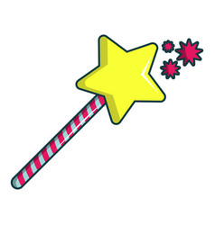 Princess wand icon cartoon style vector