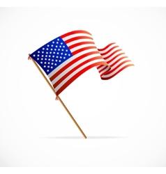 waving American Flag Flag of USA vector image