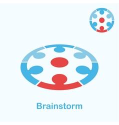 Brainstorm logo concept vector image