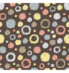 Stylish hand drawn polka dot seamless patterns vector image