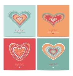 Heart sweet love valentine day vector