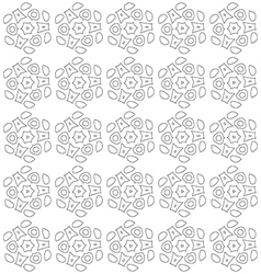 Black and white abstract flowers print pattern vector