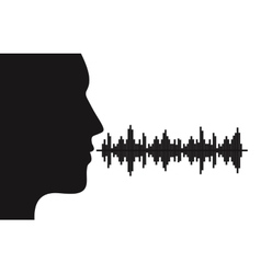Sound of voice vector