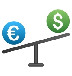 Euro dollar market swing gradient icon vector
