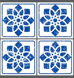 azulejos retro tiles pattern portuguese se vector image vector image