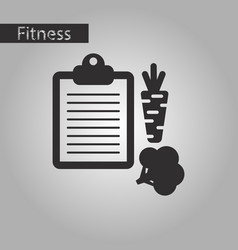 Black and white style icon vegetable menu vector