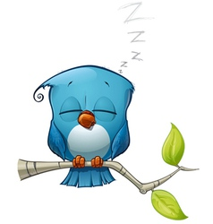 Blue bird sleeping vector
