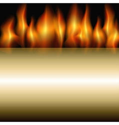 burning stripe vector image