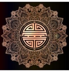 Chinese longevity good luck mandala vector
