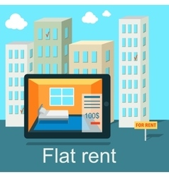 Flat Rent Price Design Concept vector image