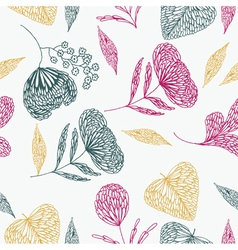 flower line art background vector image vector image
