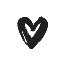 Grunge heart symbol vector