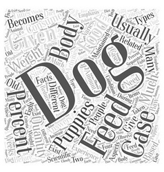 How much should i feed my dog word cloud concept vector