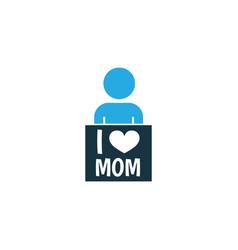 i love mom colorful icon symbol premium quality vector image vector image