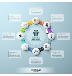 infographic eight options vector image