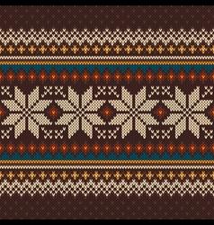 Knit fairisle 36 vector