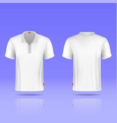 Mens white t-shirt realistic template vector