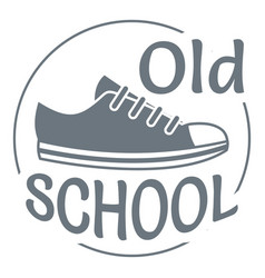Old school logo simple style vector