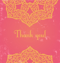 Pink indian card vector
