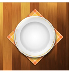 plate vector image