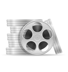 reel with cinema film stock vector image vector image